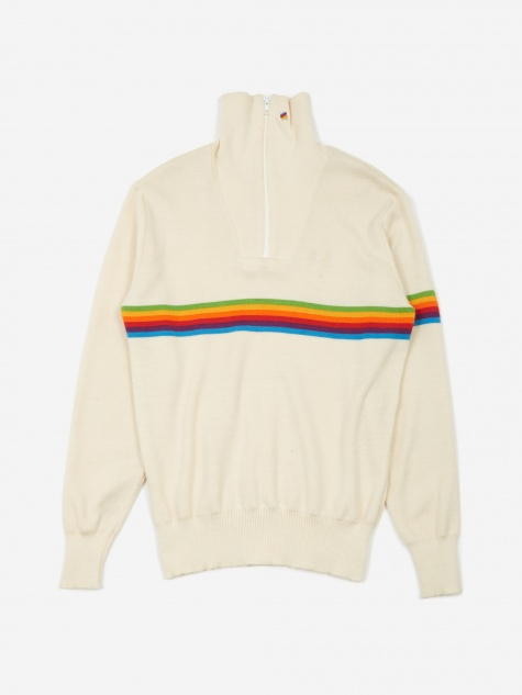 Apple Roller Rainbow Zip Knit - Cream
