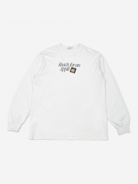 Apple Reach For An Apple LS T-Shirt - White