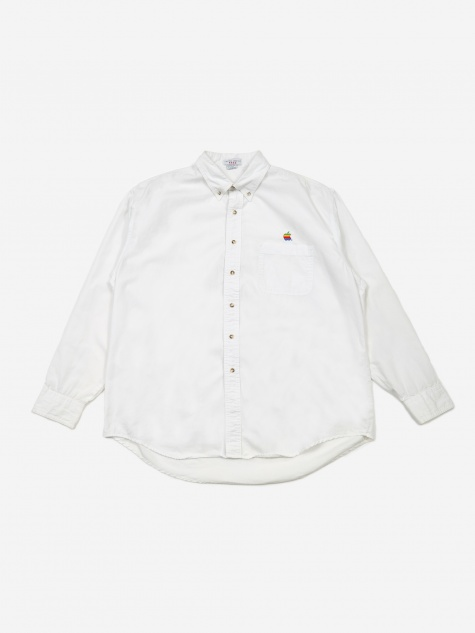 Apple Rainbow Logo Shirt - White