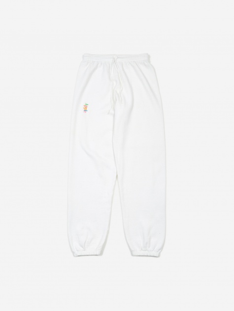 Apple Logo Sweatpants - White