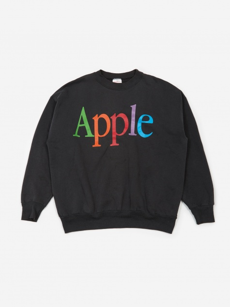 Apple Rainbow Logo Sweatshirt - Black