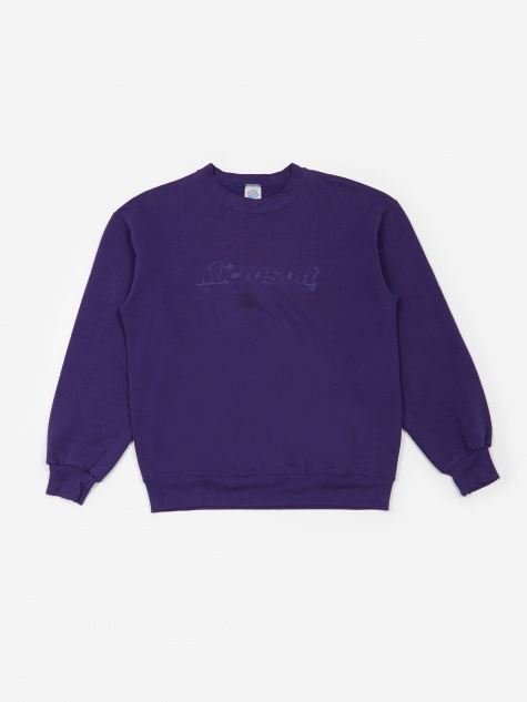 Microsoft Stitched Logo Sweatshirt - Purple