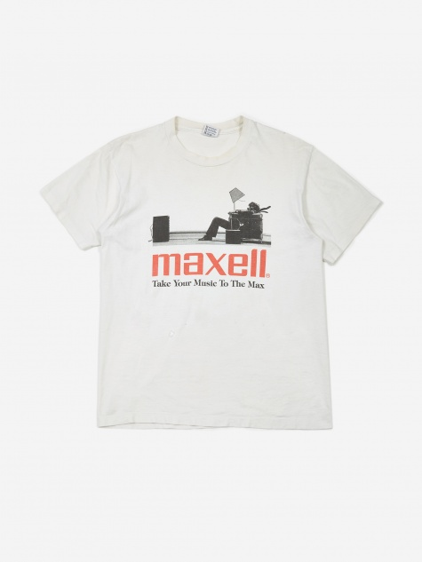 Maxell Take Your Music To The Max T-Shirt - White