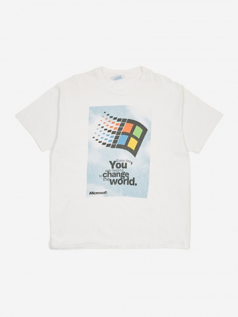 Microsoft Changing The World Windows 95 T-Shirt - White