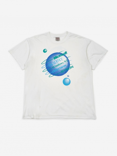 Microsoft Windows NT Globe Print T-Shirt - White