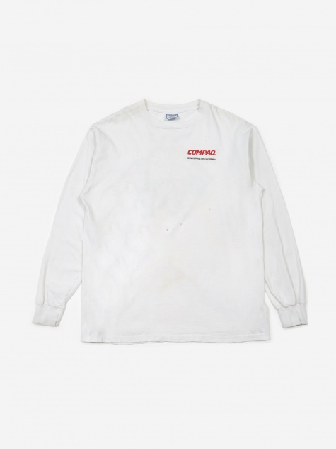 Compaq Training Graphic Logo T-Shirt - White