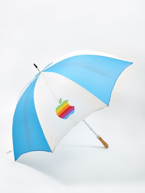 Apple Logo Umbrella - Blue/White