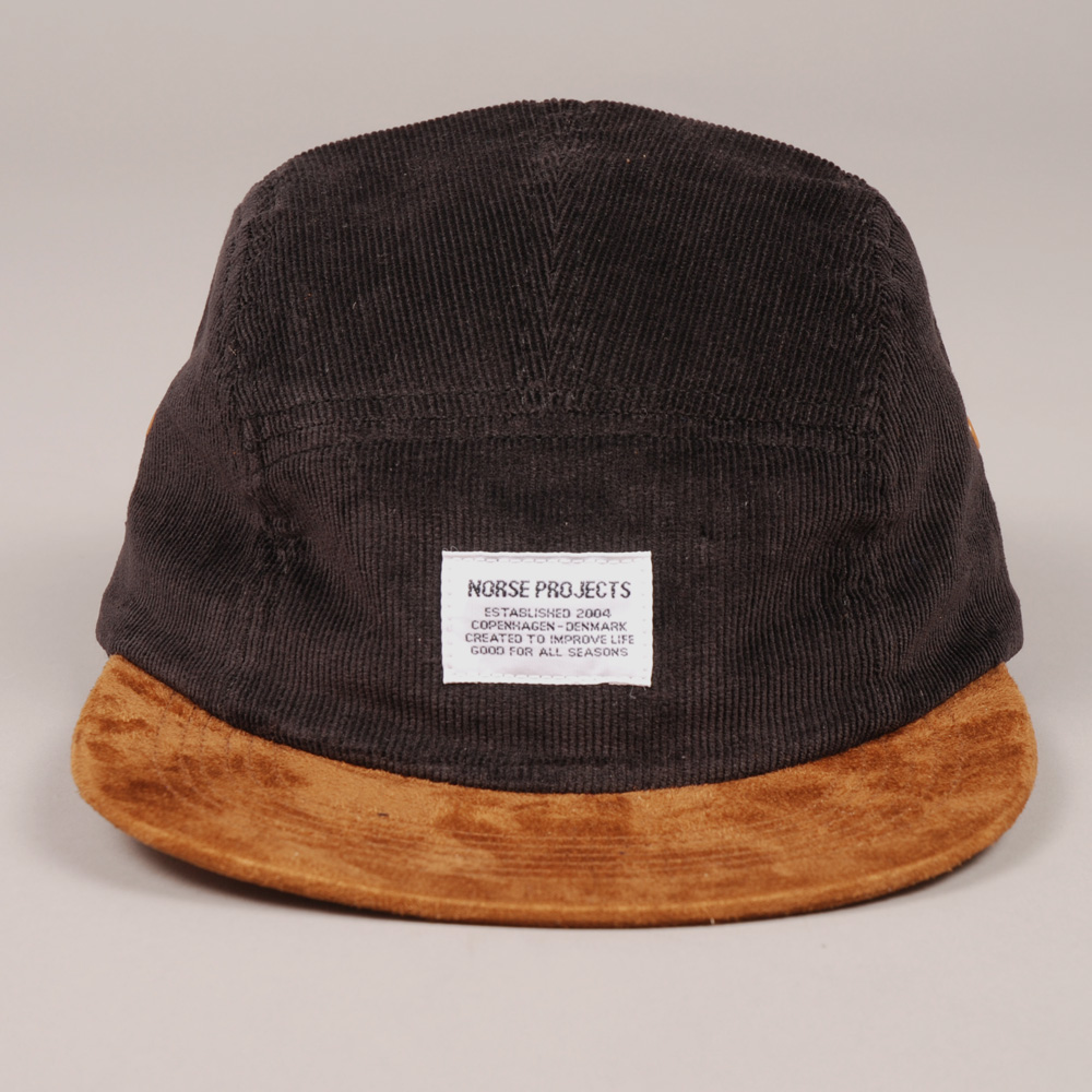 57845d2f91c Norse Projects 5 Panel Cord Cap - Black  (Image 1)