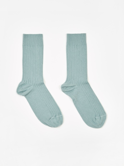 Cotton Rib Ankle Sock - Temporary Blue