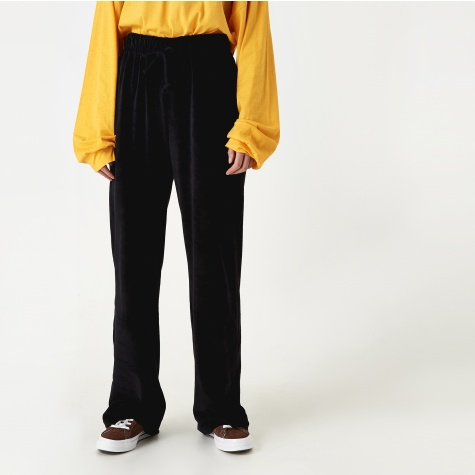 Douglas Velour Trouser - Black