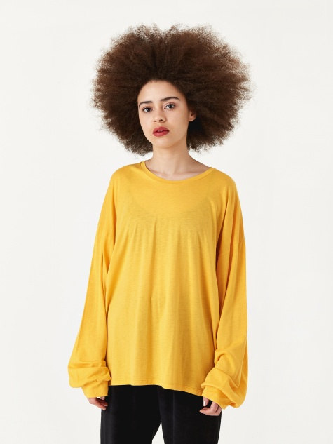Michael Longsleeve T-Shirt - Boat Yellow