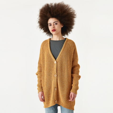 Danube Cardigan - Ocra Brown Pearl