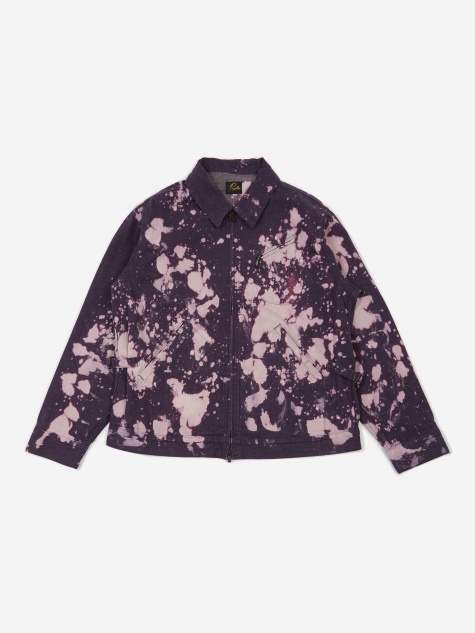 Bleach Denim Work Jacket - Purple