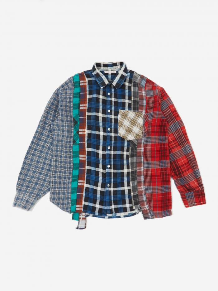 Needles Rebuild 7 Cuts Flannel Shirt Size Medium 1 - Assorted (Image 1)