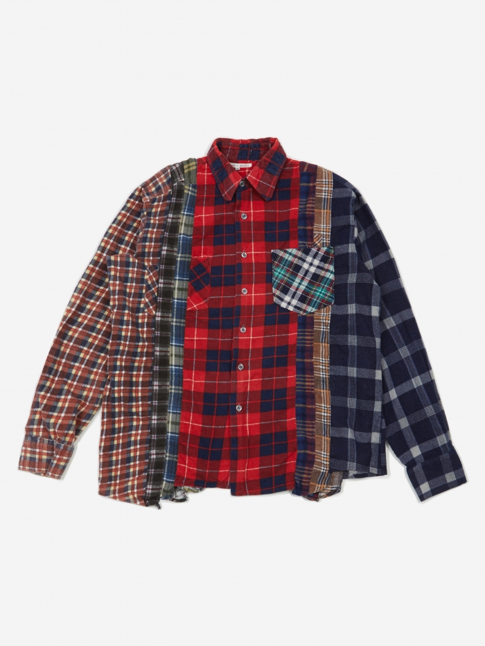 Needles Rebuild 7 Cuts Flannel Shirt Size Medium 4 - Assorted (Image 1)