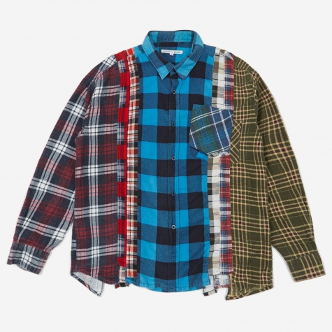 Rebuild 7 Cuts Flannel Shirt Size Large 4 - Assorted