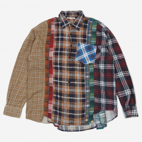 Rebuild 7 Cuts Flannel Shirt Size Large 9 - Assorted