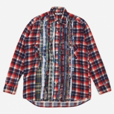 Needles Rebuild Flannel Ribbon Shirt Size Medium 1 - Assorted