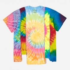 Needles Rebuild 5 Cuts Tie-Dye T-Shirt Size Large 4 - Assorted