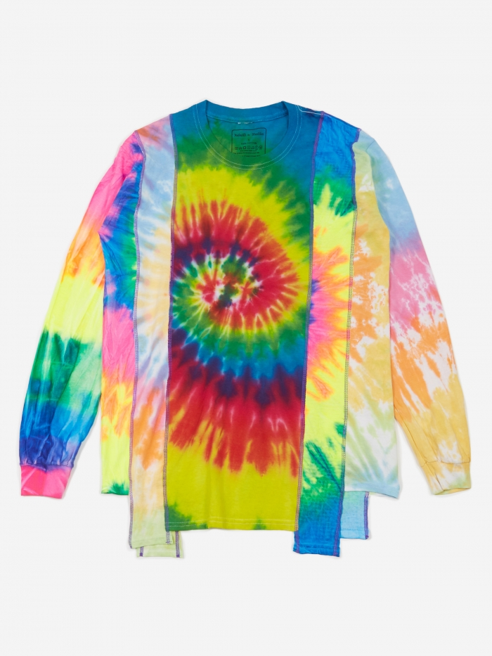 Needles Rebuild 5 Cuts Longsleeve Tie-Dye T-Shirt Size Small 2 - (Image 1)