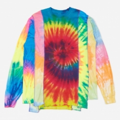 Needles Rebuild 5 Cuts Longsleeve Tie-Dye T-Shirt Size Medium 1