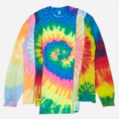 Needles Rebuild 5 Cuts Longsleeve Tie-Dye T-Shirt Size Large 1 -