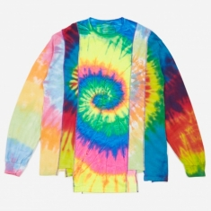 Needles Rebuild 5 Cuts Longsleeve Tie-Dye T-Shirt Size Large 2 -