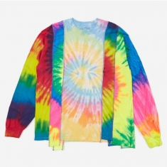 Needles Rebuild 5 Cuts Longsleeve Tie-Dye T-Shirt Size X-Large 2