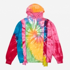 Needles Rebuild 5 Cuts Tie-Dye Hooded Sweatshirt Size Medium 1 -