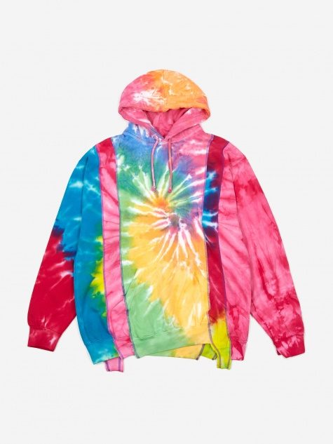 Rebuild 5 Cuts Tie-Dye Hooded Sweatshirt Size Medium 2 -