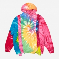 Needles Rebuild 5 Cuts Tie-Dye Hooded Sweatshirt Size Medium 2 -