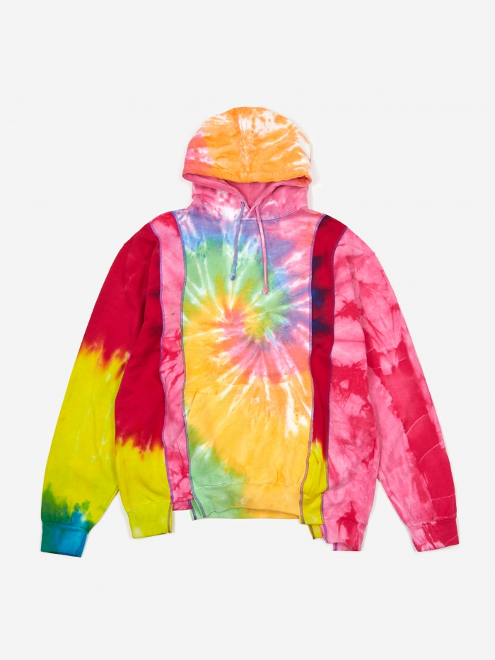 Needles Rebuild 5 Cuts Tie-Dye Hooded Sweatshirt Size Large 2 - (Image 1)