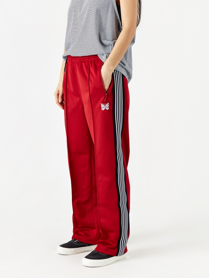 Needles Poly Smooth Track Pant - Red (Image 1)