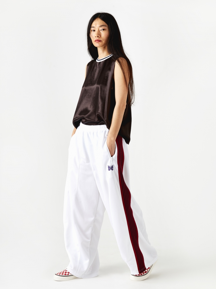 Needles Poly Smooth HD Track Pant - White (Image 1)