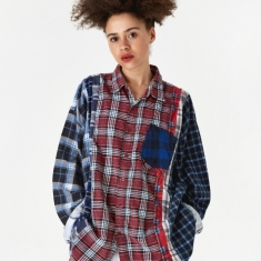 Needles Wide 7 Cuts Flannel Shirt One Size 3 - Assorted