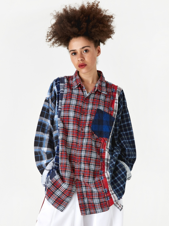 Needles Wide 7 Cuts Flannel Shirt One Size 3 - Assorted (Image 1)