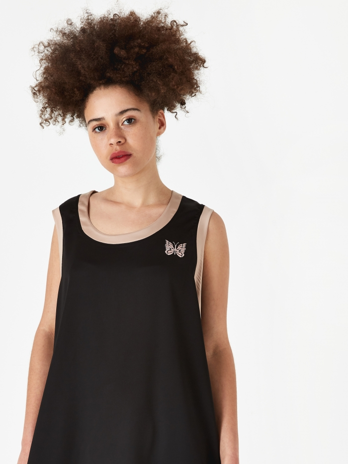 Needles Papillon Embroidered Tank Top - Black (Image 1)