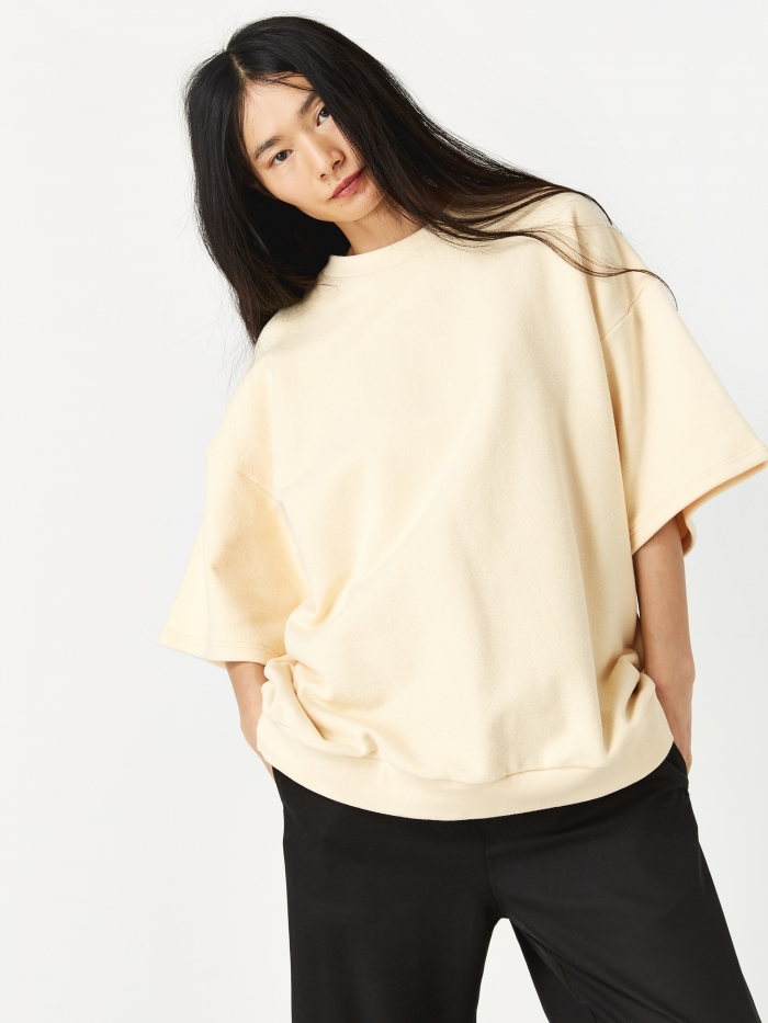 Can Pep Rey Oversized Short Sleeve Sweatshirt - Summer Melon (Image 1)