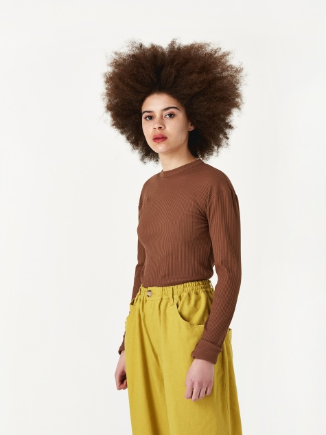 Skinny Sweatshirt - Brown