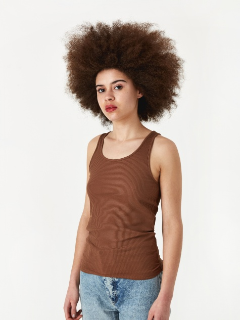 Rib Racer Tank - Brown