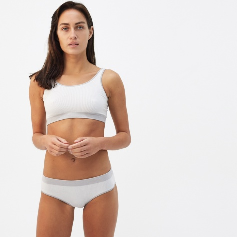 Seamless Scoop Top - Light Grey