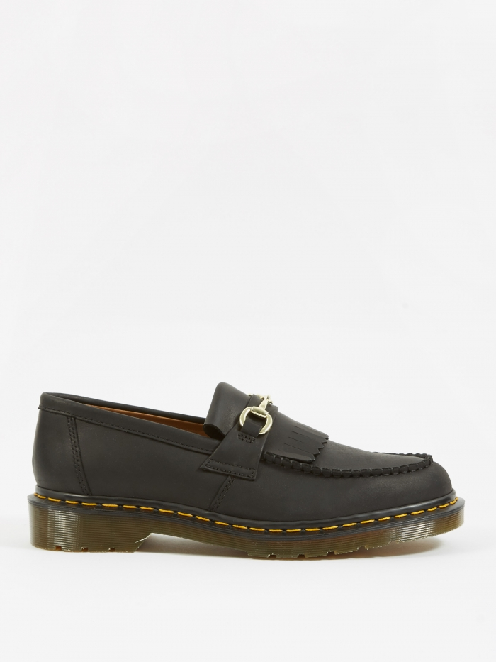 Dr Martens Dr. Martens x United Arrows Snaffle Loafer - Black Luxor Leather (Image 1)
