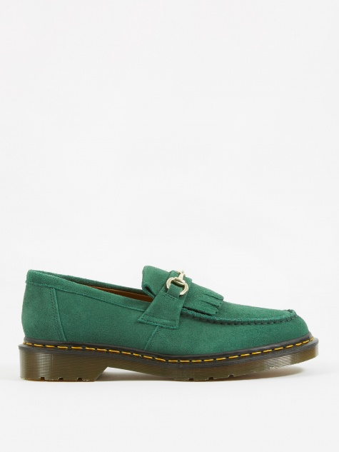 Dr. Martens x United Arrows Snaffle Loafer - Bottle Green Suede
