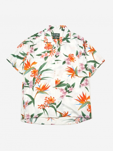 Camp Shirt - White Aloha