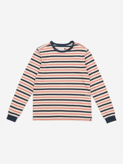 Kris Striped Longsleeve T-Shirt - Dark Teal/