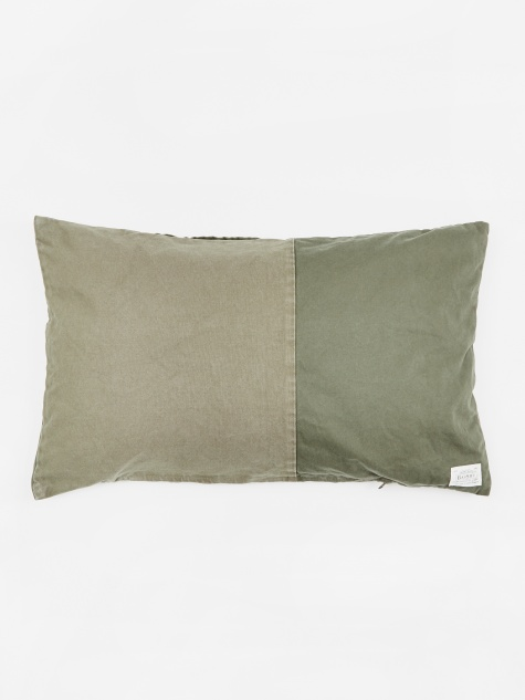 Long Feather Cushion 45x75cm - Khaki