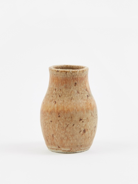 Ceramic Bottle Candleholder - Sand