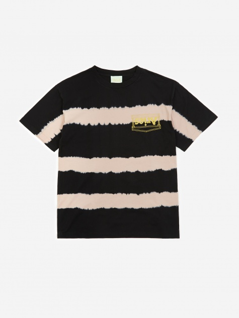 Tie-Dye Stripe T-Shirt - Dusty Pink
