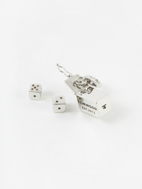 Two Dice Charm - Sterling Silver