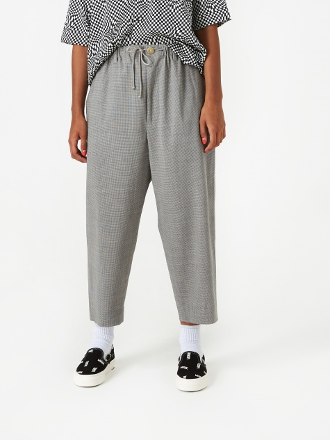 Baggy Pant - Grey Houndstooth